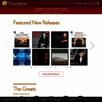 Classicalarchives.com thumbnail