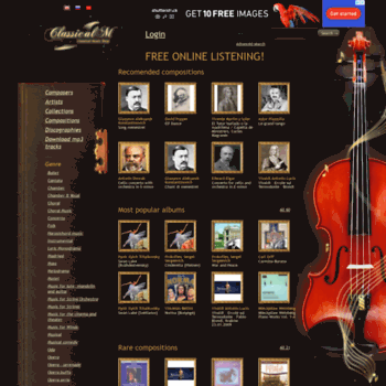 classicalm com at WI  Listen to best classical music online