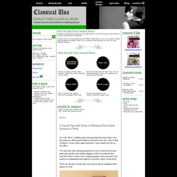 Classicalusa.com thumbnail