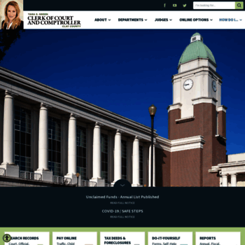 clay county clerk of court records