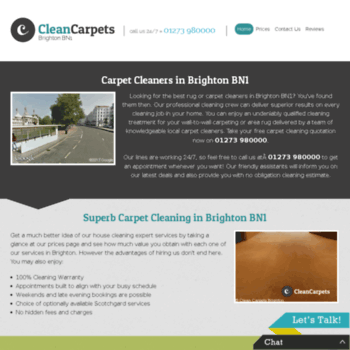 Cleancarpets-brighton.co.uk thumbnail