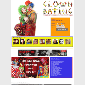 clown dating login