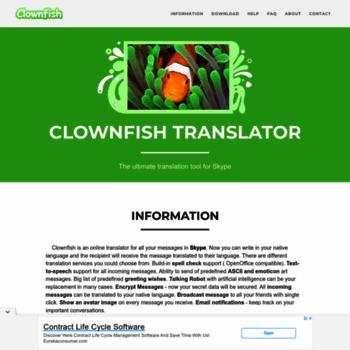 clownfish-translator com at WI  Clownfish for Skype: Free realtime