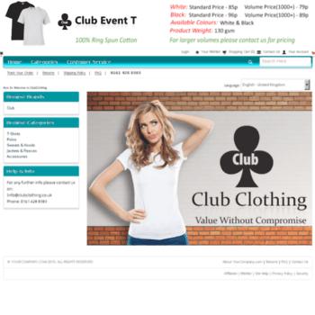 Clubclothing.biz thumbnail