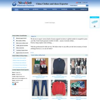 cn-stocklot com at WI  In stock clothes Apparel garments