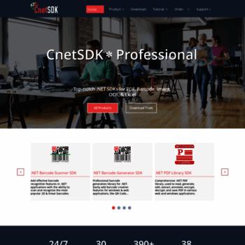 cnetsdk com at WI  CnetSDK  NET SDKs for PDF, Barcode, Image