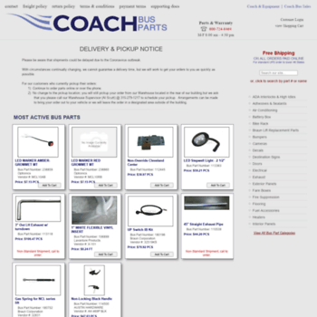 coachbusparts com at WI  Bus Parts - Coach and Equipment Bus