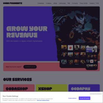 codapay com at WI  Codapay - online payment for digital content