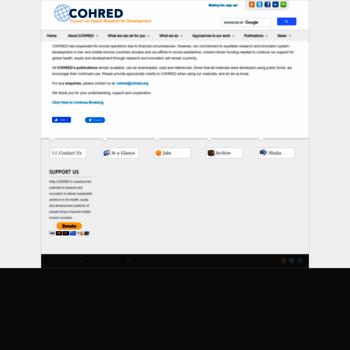 Cohred.org thumbnail
