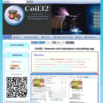 coil32 net at WI  Coil32 - the coil inductance calculator