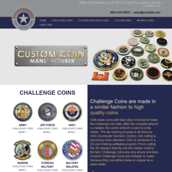 coinable com at WI  Custom Coins, Challenge Coins, Military