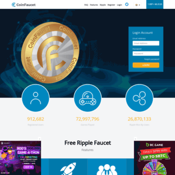 coinfaucet io at WI  CoinFaucet io - Free Ripple Faucet, Free XRP