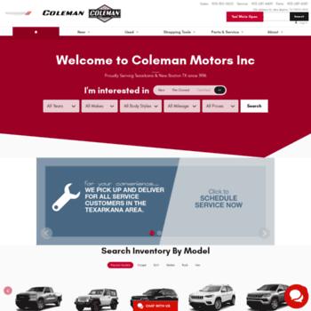 Colemanmotorstexas.com thumbnail