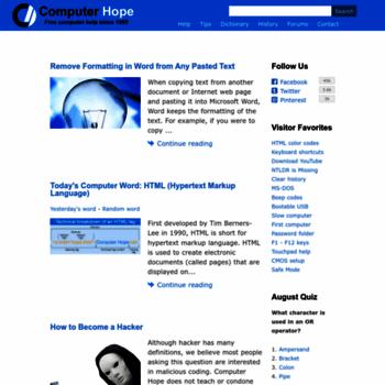 Computerhope.com thumbnail