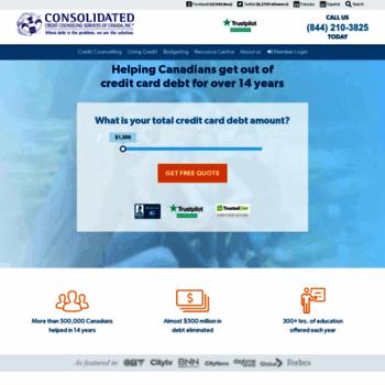 Consolidatedcredit.ca thumbnail