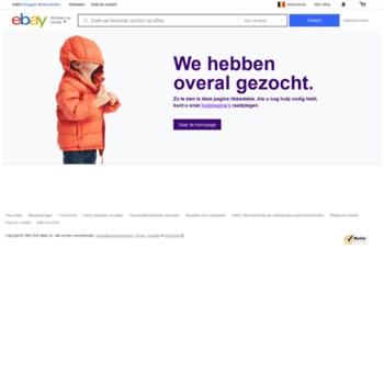 Contact Ebay Nl At Wi Pagina Reageert Niet