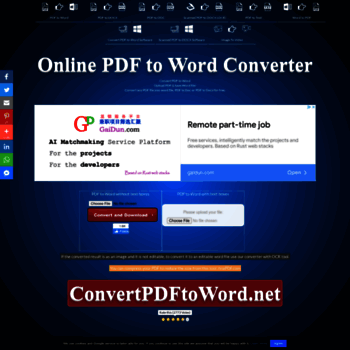 convertpdftoword net at WI  Convert pdf to word - pdf to word