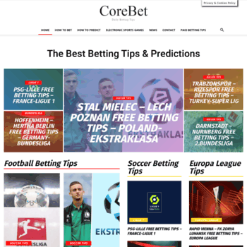 corebet com at WI  Football Betting Tips - The Best Predictions