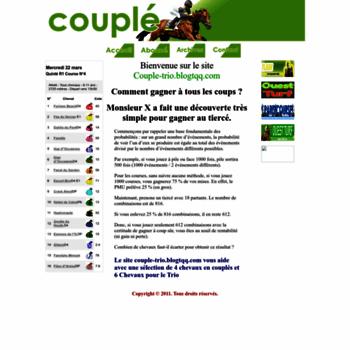 couple-trio blogtqq com at WI  Couple-trio site de pronostic Turf