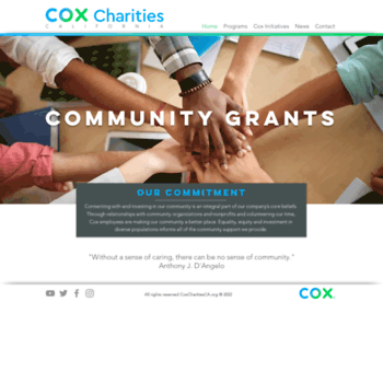 Coxcharitiesca.org thumbnail