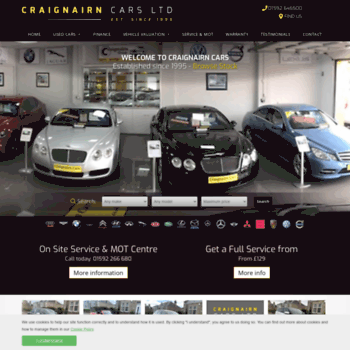 craignairncars co uk at WI  Used cars for sale in Kirkcaldy
