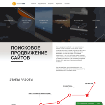 Веб сайт creative-seo.ru