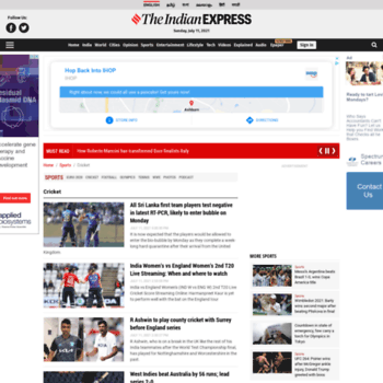 Cricket.expressindia.com thumbnail