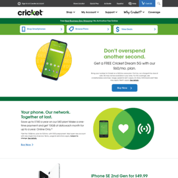 Cricketwireless Com At Wi Cell Phone Service To Smile About