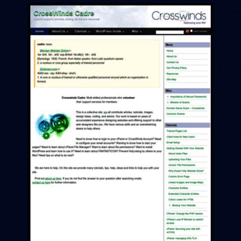Crosswinds-cadre.net thumbnail