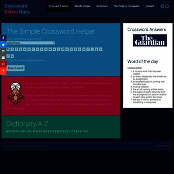 Crosswordsolver.guru thumbnail