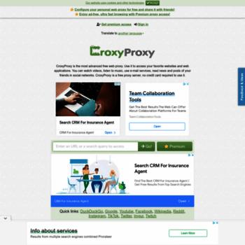 Croxyproxy.net thumbnail