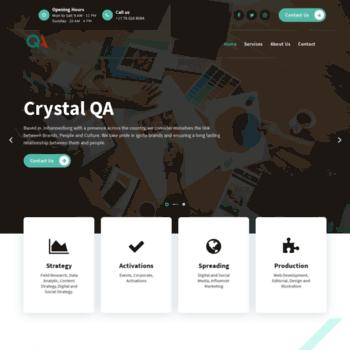 Crystalqa.com thumbnail