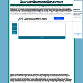 csgenerator com at WI  Complex Sentence Generator