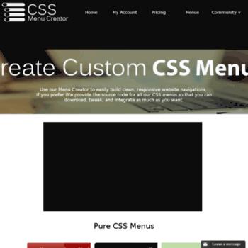 cssmenucreator com at WI  CSS Menu Creator - Build HTML, CSS