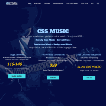 cssmusic com at WI  Royalty Free Music Free Download, Background