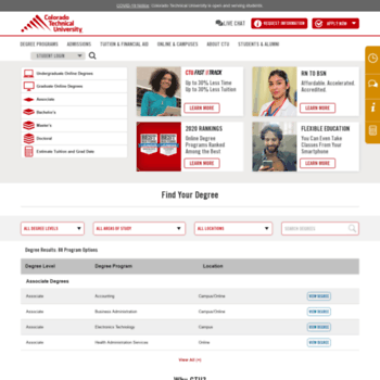 ctuonline com at WI  CTU: Earn an Accredited Online Degree