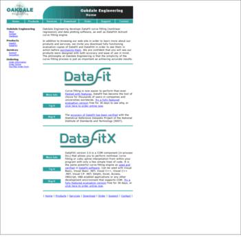 curvefitting com at WI  DataFit Curve Fitting and Data