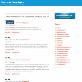 Customercomplaints.org.in thumbnail