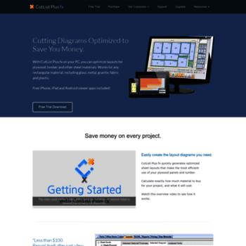 cutlistplus com at WI  CutList Plus Cutting Diagram Software