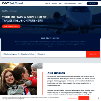 cwtsatotravel com at WI  CWTSatoTravel | Military