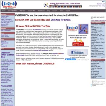 cybermidi com at WI  CYBERMIDI Pro MIDI Files, backing tracks for