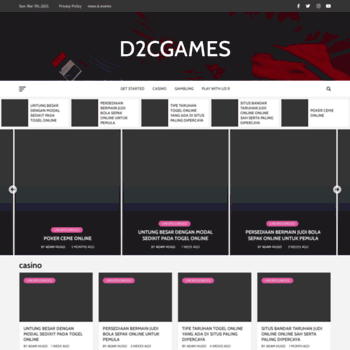Веб сайт d2cgames.com