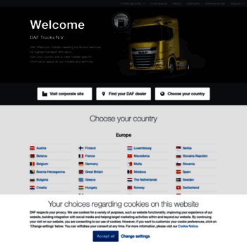 Dafcom At Wi Daf Trucks Global Choose Your Country Or Market