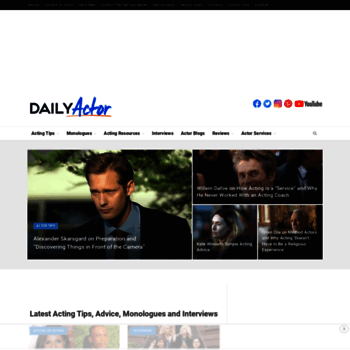 Dailyactor At WI Daily Actor Free Monologues Acting Tips