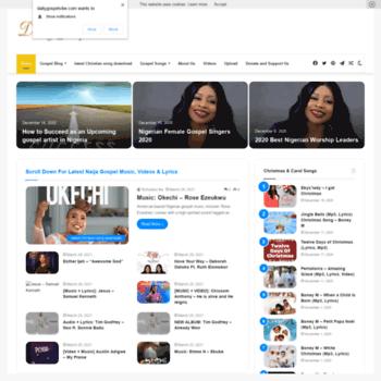 dailygospelvibe com at WI  Homepage - Gospel Music 2019