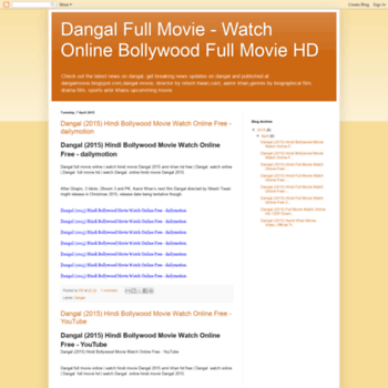 Dangalmovieblogspotcomtr At Wi Dangal 2015 Bollywood Hindi