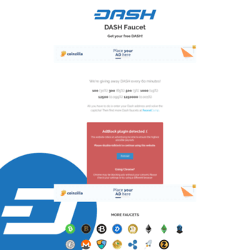 dashfaucet net at WI  Free DASH from the DASH Faucet!