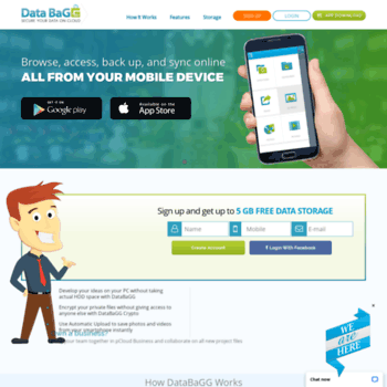 databagg com at WI  Free Unlimited Data Storage Online