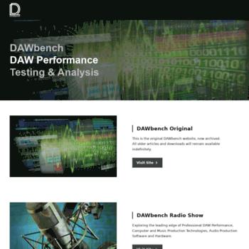 dawbench com at WI  DAW Bench : DAW Performance Benchmarking