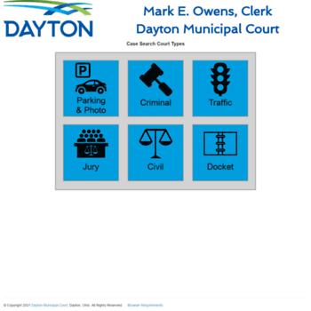 daytonclerk org at WI  Court Search Types - Dayton Municipal Court